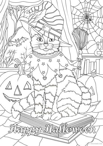Holiday Freebie Halloween Cat Halloween Coloring Sheets
