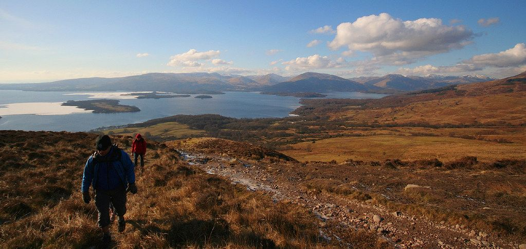 Loch Lomond from Conic Hill #lochlomond
