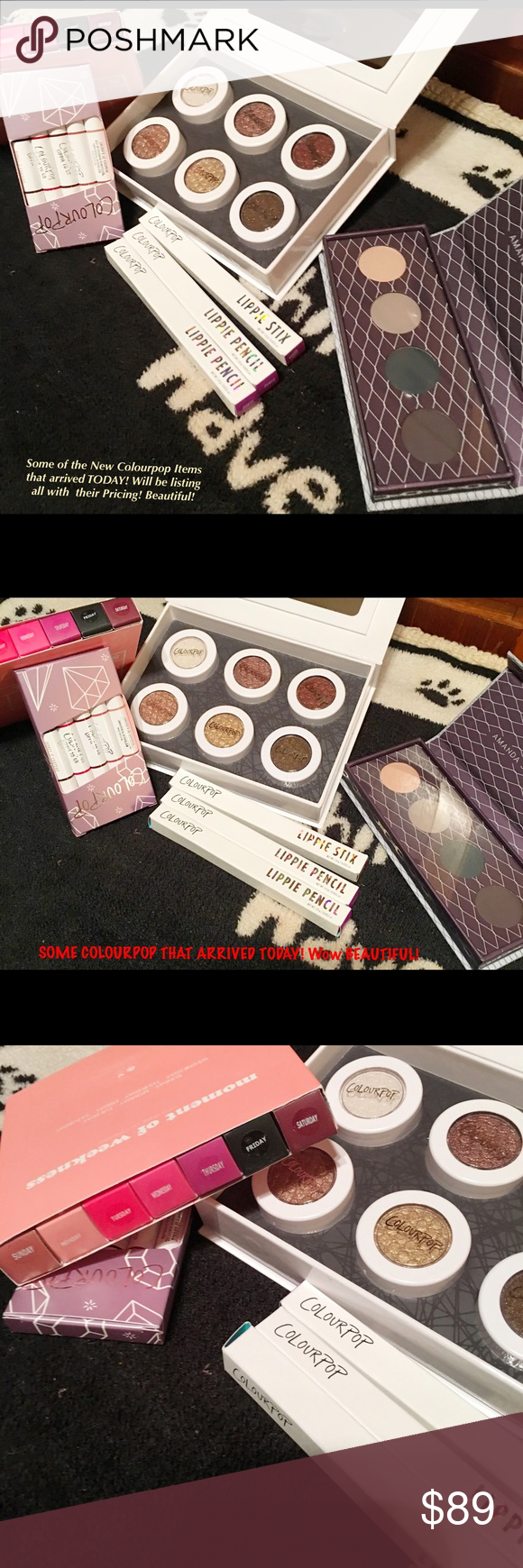💋Nip/COLOURPOP SHIPMENT ARRIVED! ✔OUT ALL OF IT! 💋💞⭐Nip/Colourpop Cosmetic Shipment Arrived! WOW SOME BEAUTIFUL SHADOW Shades/Lippie Stix/Ultra Mattes for every day of the Week! I will be pricing & listing separately/but if you see something you want a closer look at?? Just message @toryshop💞 Colourpop Makeup Eyeshadow