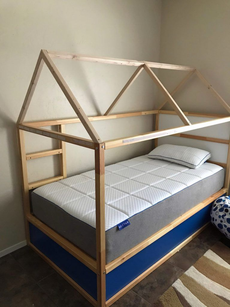 How To Turn An Ikea Kura Bed Into A Fun Bed Tent Kids Bed Tent
