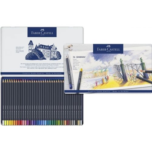Boite De 36 Crayons De Couleur Goldfaber Faber Castell Faber