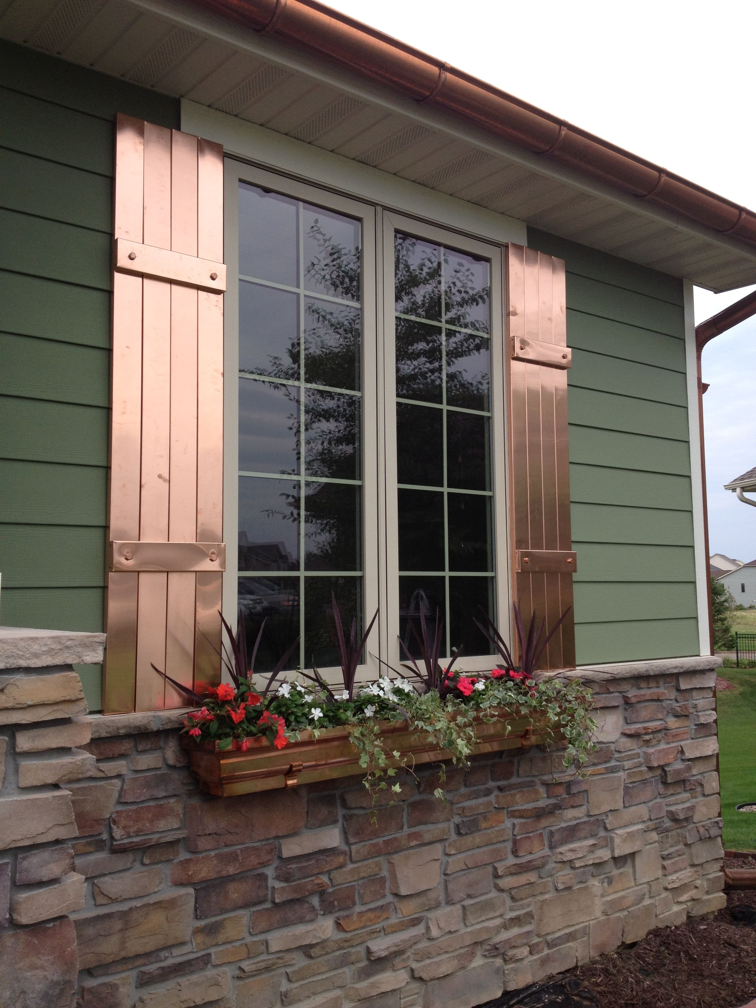 Copper Window Shutters Front Door In 2019 Window