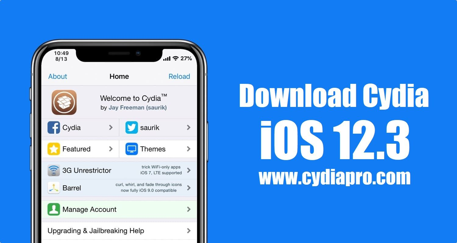 it can use to download Cydia iOS 12.3 and other third