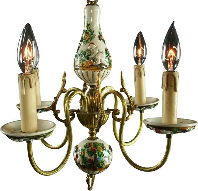 Petite vintage capodimonte chandelier 259 lighting pinterest petite vintage capodimonte chandelier 259 aloadofball Image collections