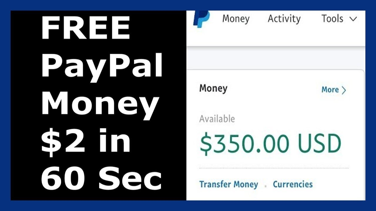 Free Paypal Money Earn 2 Every 60 Seconds Money Activities