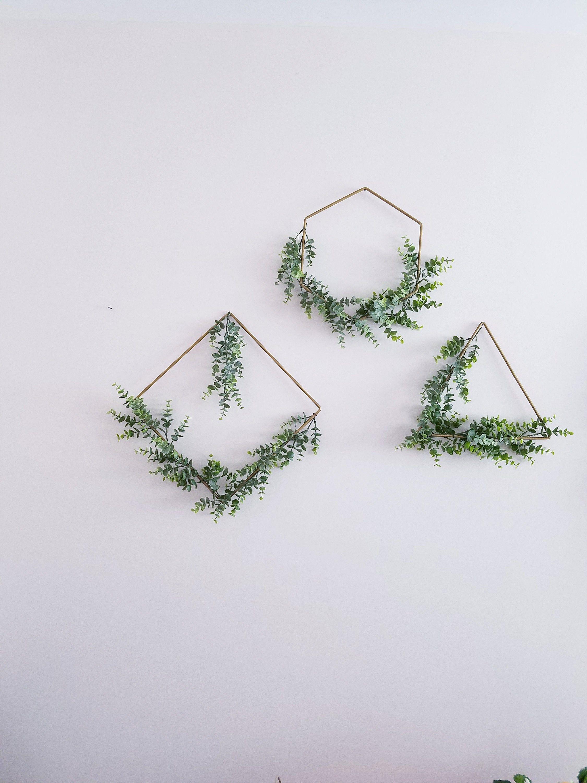 Photo of Modern Wreath Set, Geometric Wreaths, Set of Three Wreaths, NurseryDecor