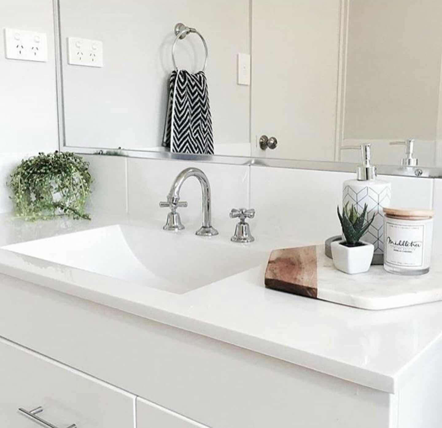 Pot instead of candle soap dish instead of pot kmart for Bathroom inspo