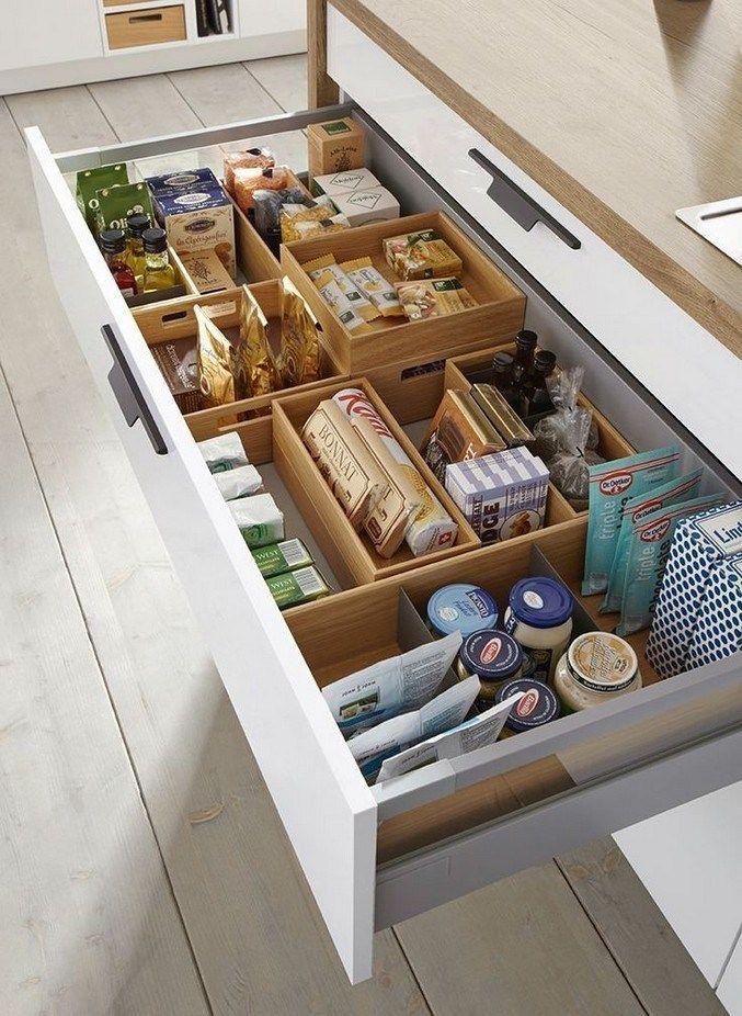 20 Smart Kitchen Organising Ideas To Help You Out Kitchenstorage Storageideas Organizing Clever Kitchen Storage Kitchen Cabinet Storage Diy Kitchen Storage