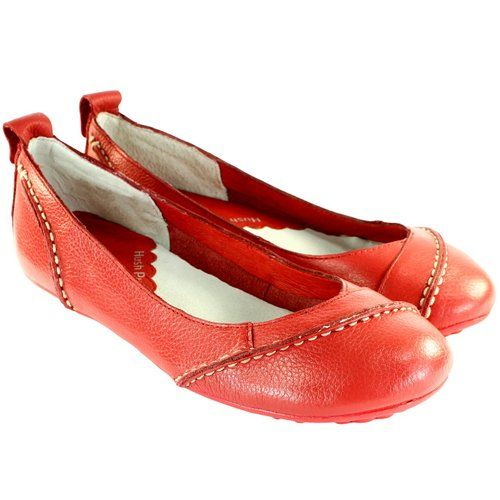 WOMENS HUSH PUPPIES JANESSA LEATHER BALLERINA FLAT SHOES BALLET PUMPS  LADIES 3-8