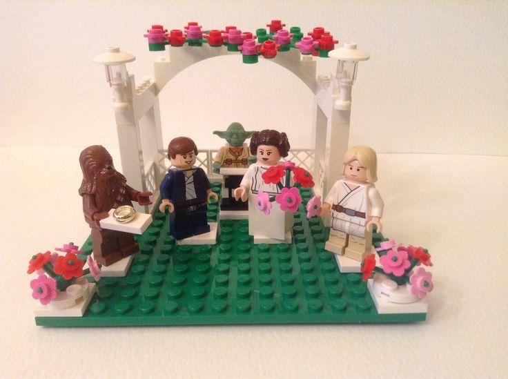 Han solo and princess leia wedding lego lego