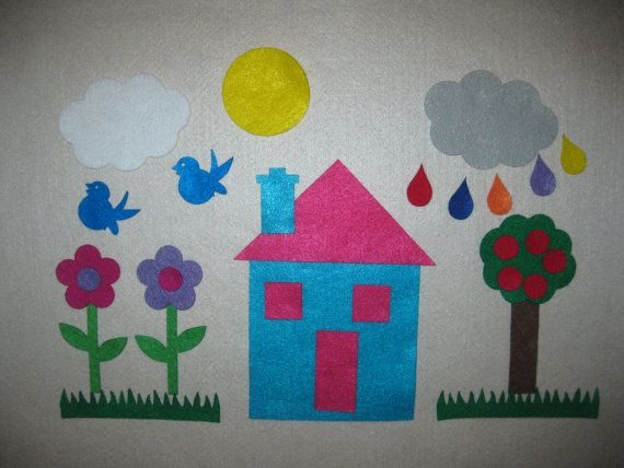 Felt+House+Play+Set+Choose+your+colors++Great+by+funandsimplefelt,+$12.00