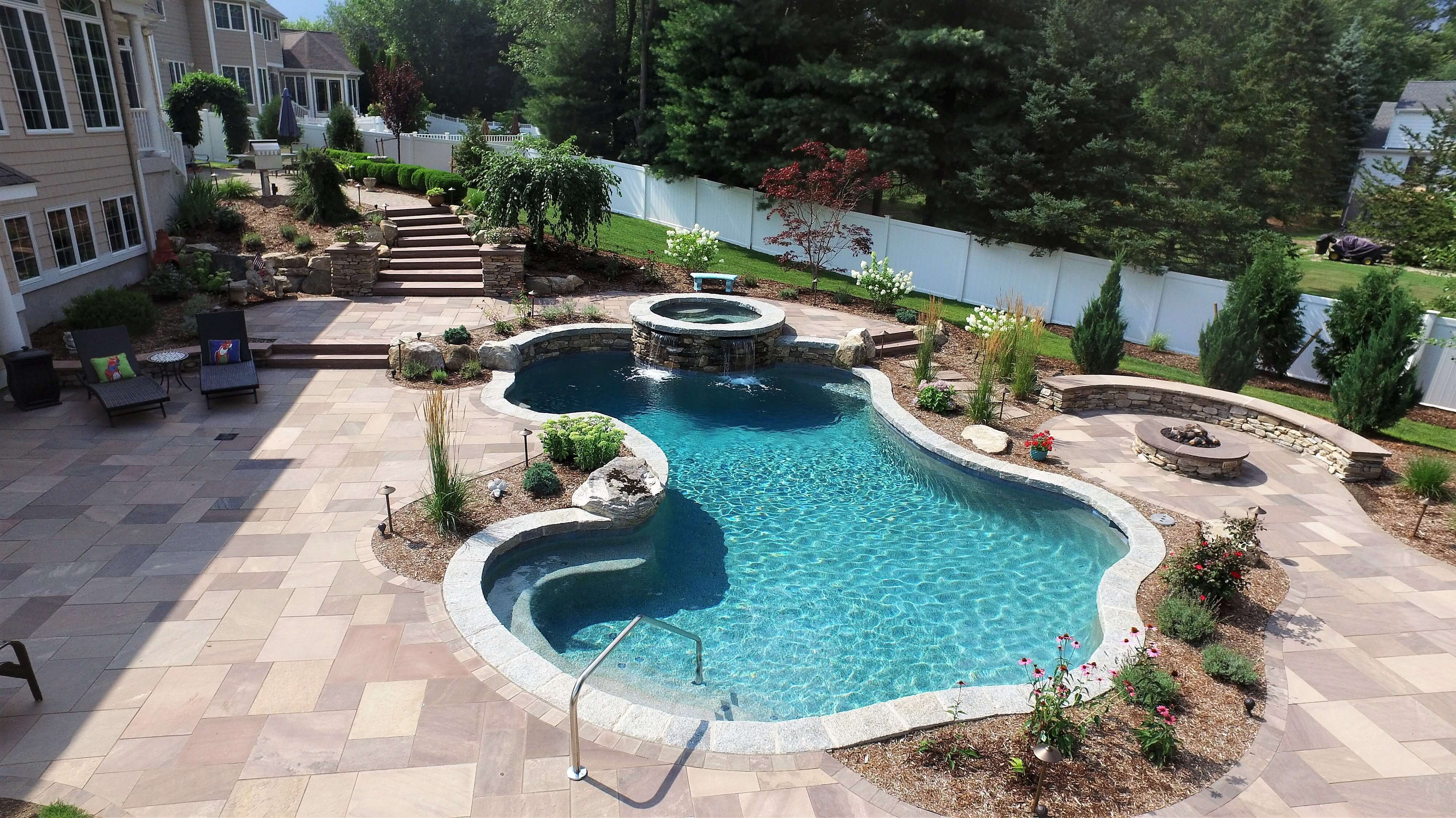 A Gunite Inground Pool Is The Premium Choice For Transforming Your Outdoor Living Space And Creating Amazing Family Memor Gunite Pool Cost Pool Cost Pool Patio