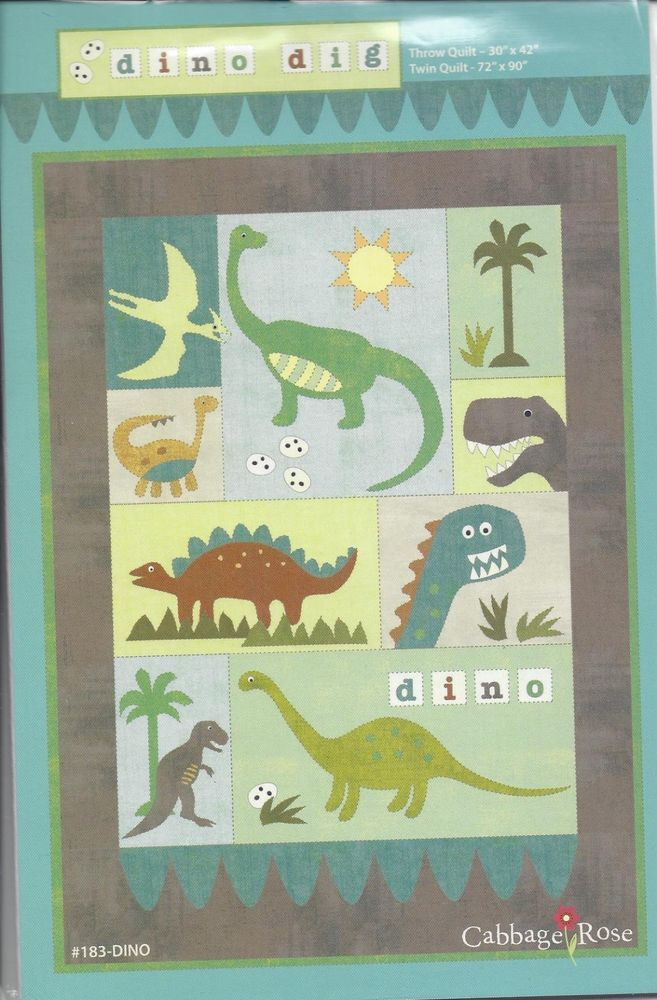 Dino Dig quilt pattern (183-DINO) - Cabbage Rose
