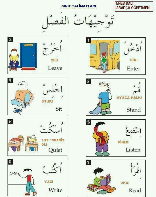 classroom directions arabic with nadia pinterests arabic verbs arabic. Black Bedroom Furniture Sets. Home Design Ideas