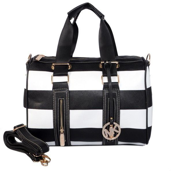 MICHAEL KORS GREYSON | Michael Kors Grayson Striped Large Satchel [Michael Kors #0194] - $53 ...