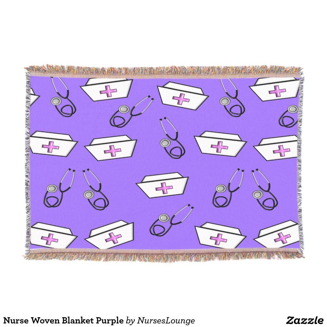 Nurse Woven Blanket Purple Purple throw