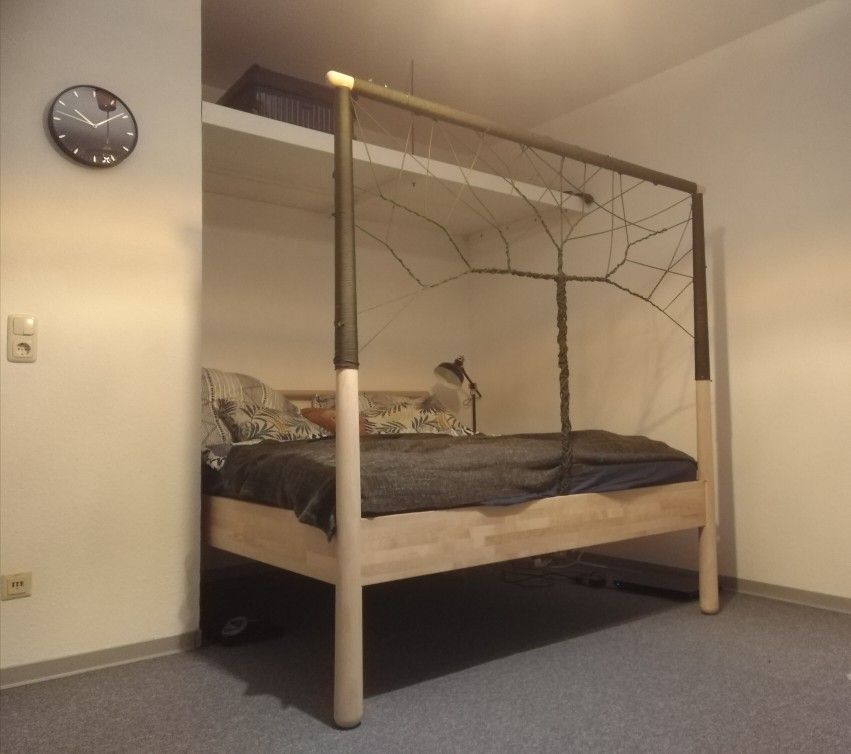 Gjora Bed With Tree Dreamcatcher Ikea Bed Ikea Inspiration Dream Bedroom