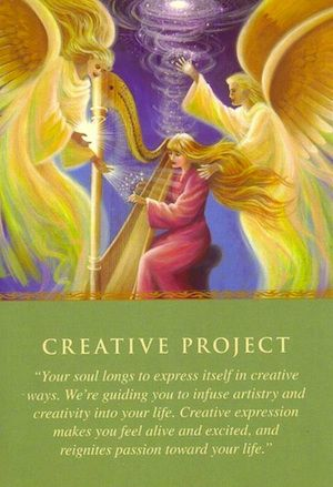 Daily Guidance From Your Angels: Creative Project | Free Angel Card Readings