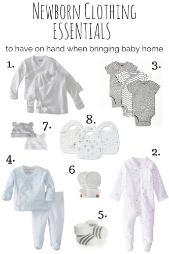 Newborn Clothes To Have On Hand When Bringing A Baby Home For The
