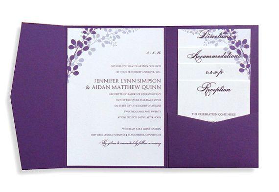 Pocket Wedding Invitation Template Set - Download Instantly - microsoft invitation templates