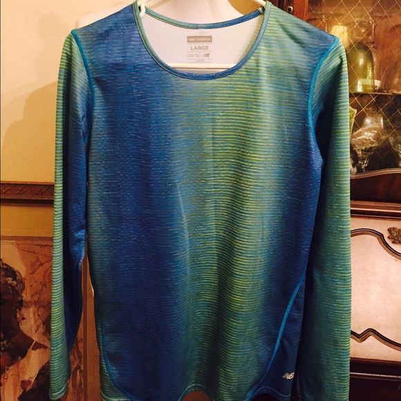New Balance Ladies Long Sleeve Sport Shirt Blue/Green New Balance long sleeve shirt, like new condition, nice colors. Size Large. New Balance Tops Tees - Long Sleeve