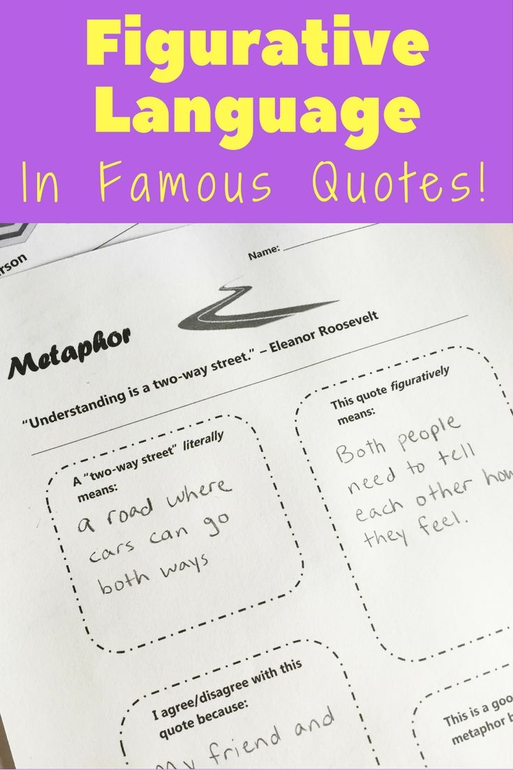 Figurative Language Practice With Quotes Simile Figurative And
