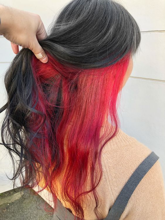 Pin By Maddi On Hair Colour In 2020 Hair Streaks Hair Inspo Color Hair Color Underneath