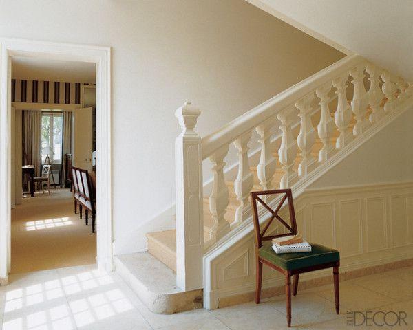 cream trim and white walls.  Very elegant.