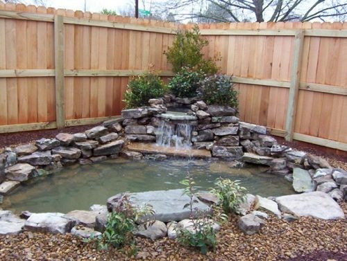 Corner landscapes in the backyeard corner pond home and landscaping designs garden - Corner pond ideas ...