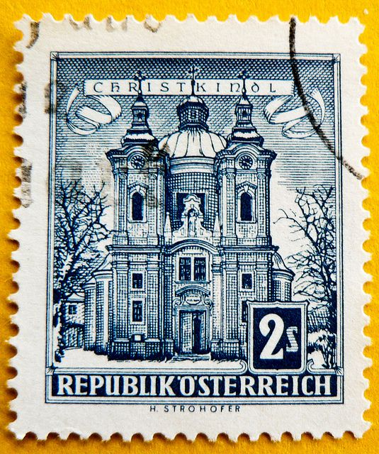 Austria Stamp Christmas Xmas 200 S Osterreich Briefmarke My Dad Collected Austrian Stamps For Over 40 Years Seeing This Brought Back Very