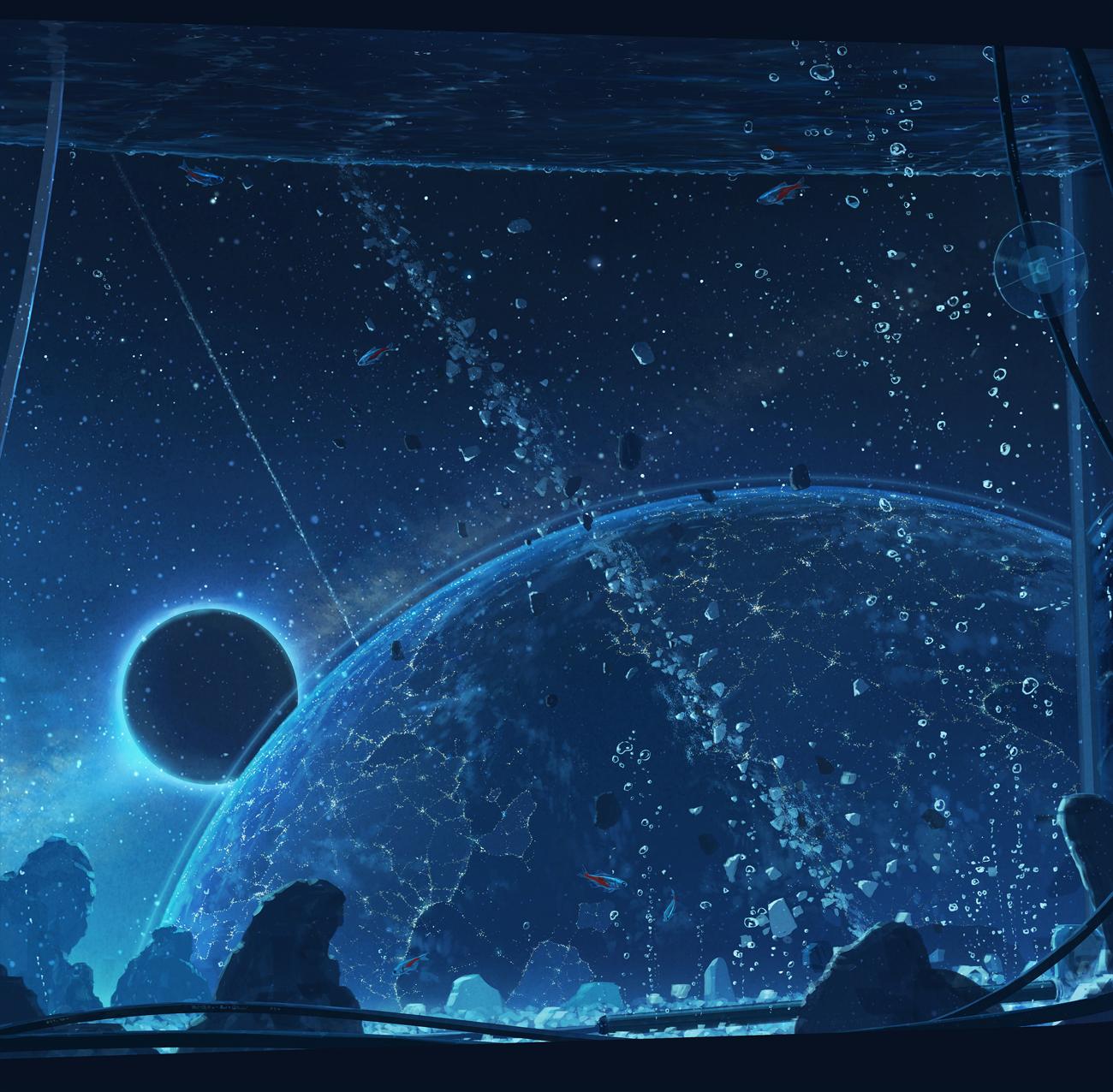 星間水槽」/「コーラ」のイラスト [pixiv] | イラスト>>幻想的