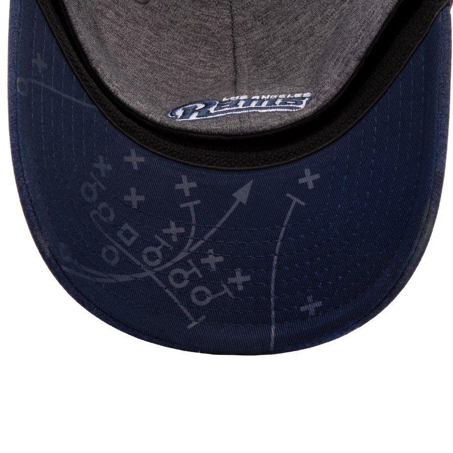 e72218bbc1d ... usa new era los angeles rams gray navy 2018 mexico game stadium print  39thirty flex hat
