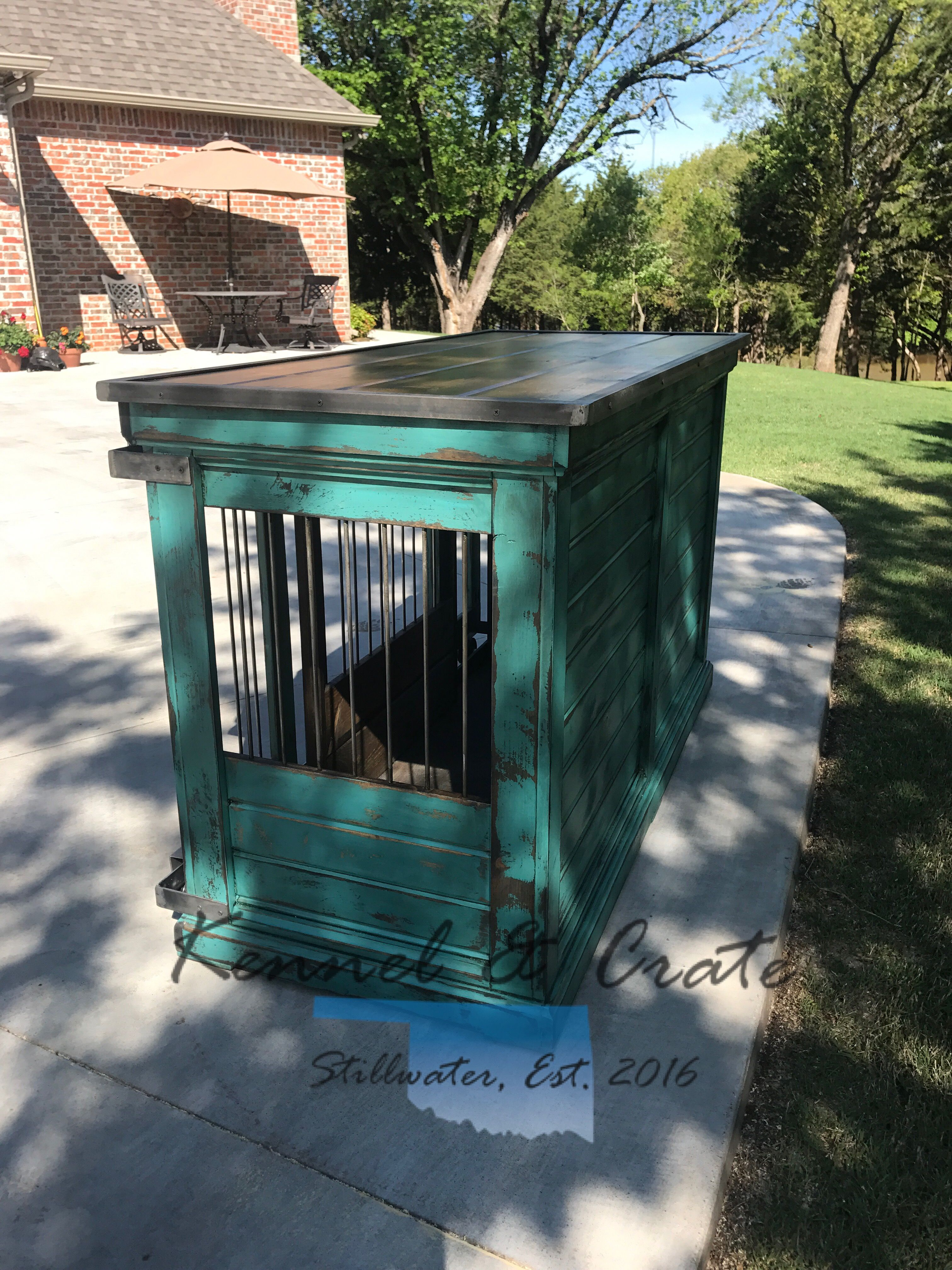 Farmhouse perfection large double indoor dog kennel all