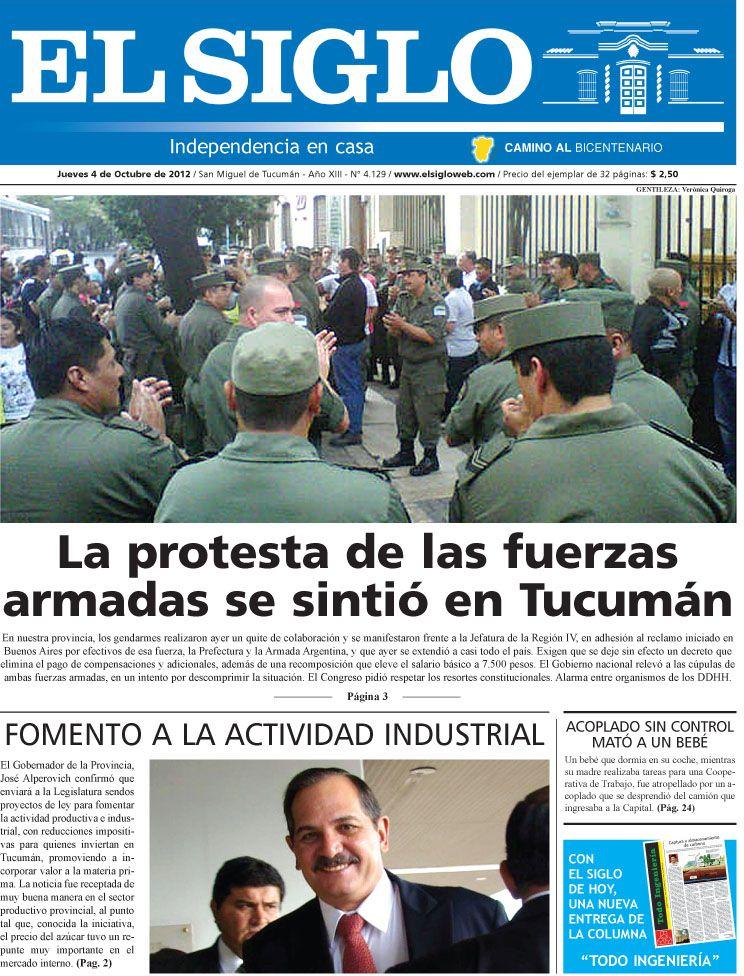 Diario El Siglo - Jueves 4 de Octubre de 20 12