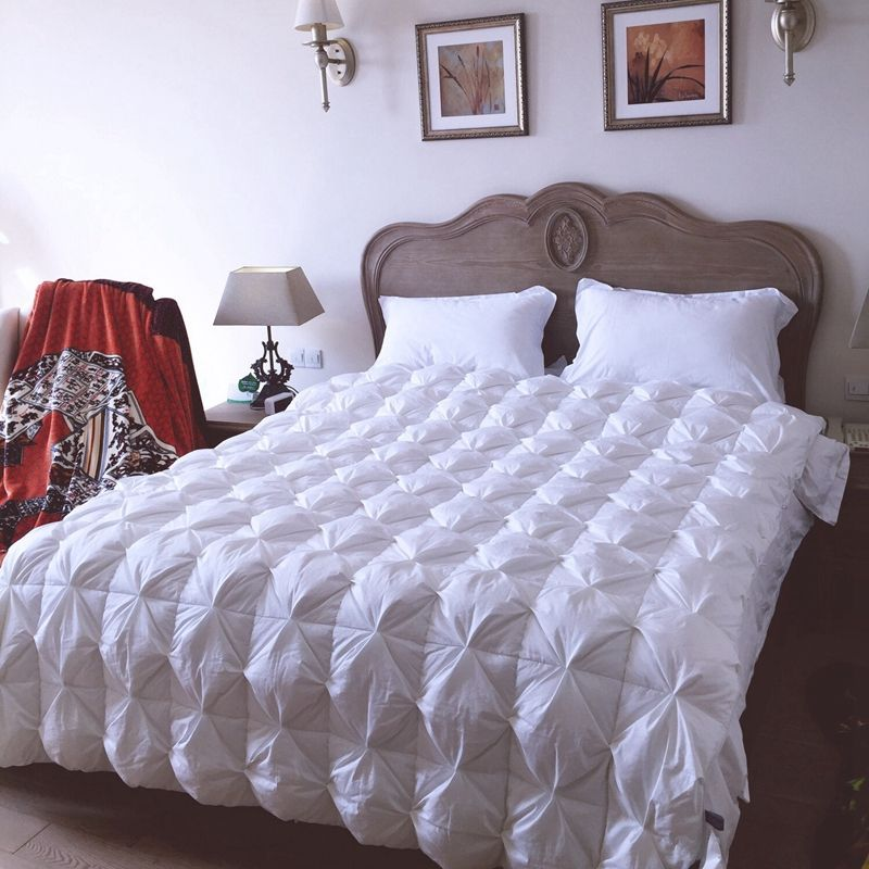 comforter quilt set bag winter twin sets a bread king textile on full duvet bedding goose queen in buy down bed white thick filling cotton home pink luxury size sale warm shape