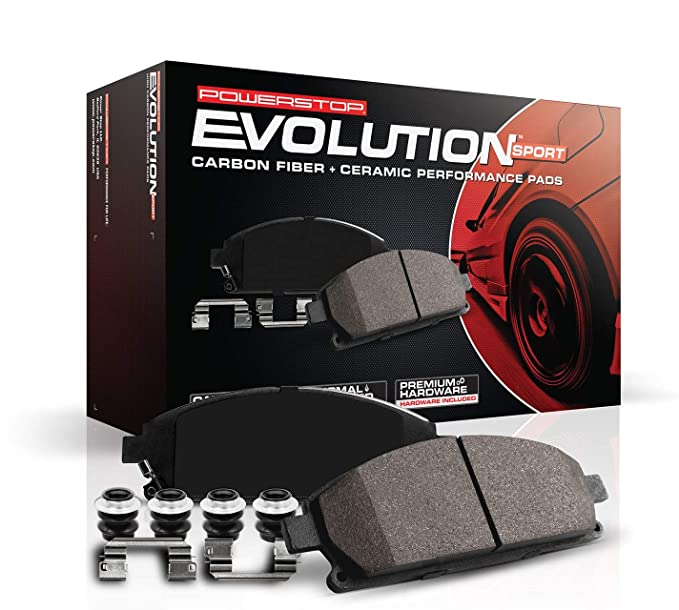 Amazon Com Power Stop Z23 757 Z23 Evolution Sport Carbon Fiber Ceramic Rear Brake Pads Automotive In 2020 Rear Brake Pads Brake Pads And Rotors Front Brakes