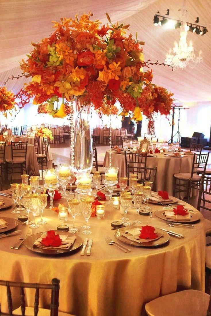 12 of the Beautifully Elegant Fall Wedding Centerpiece ...