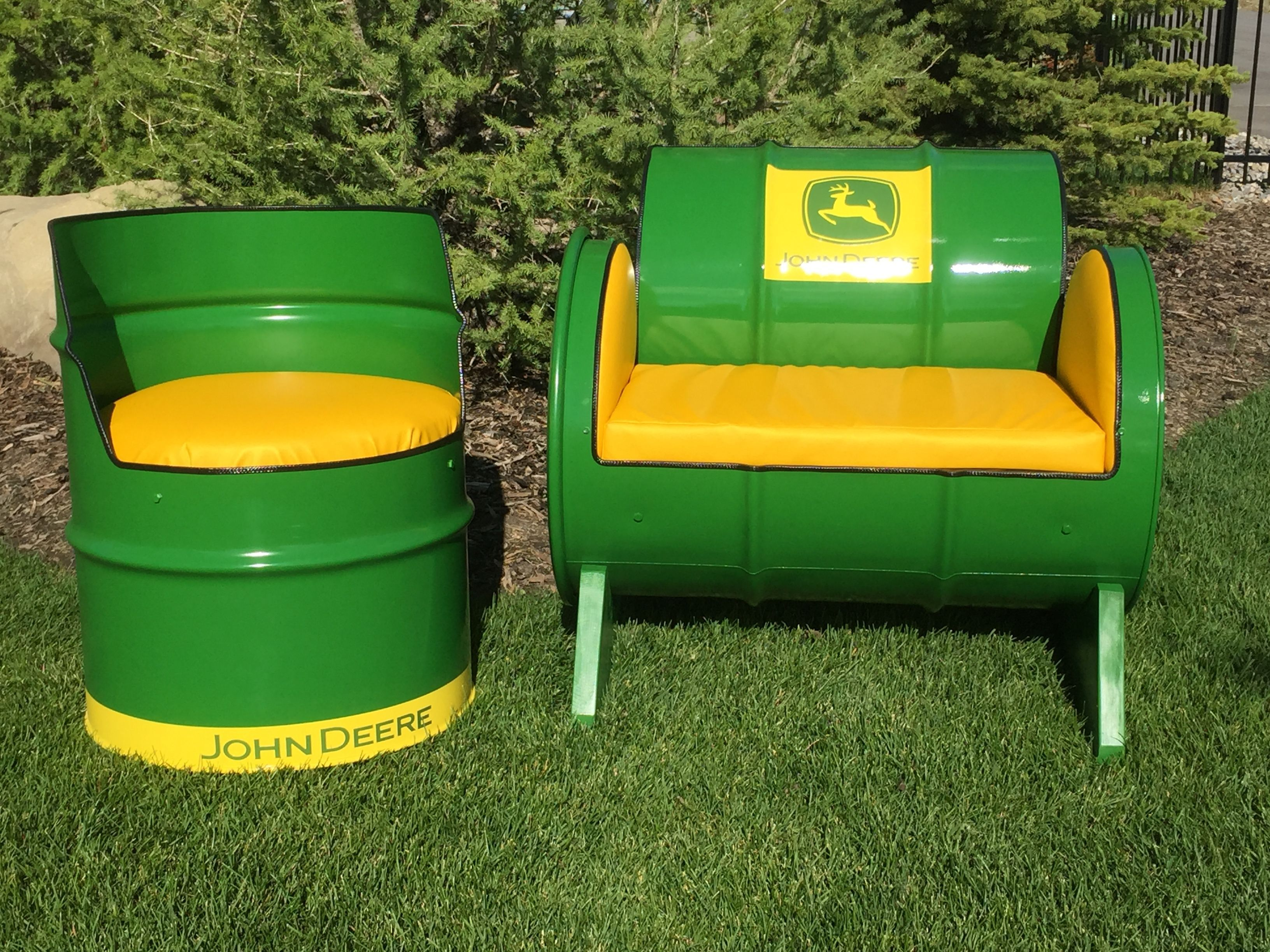 Steel Barrel Furniture I Just Finished Them Today They Are