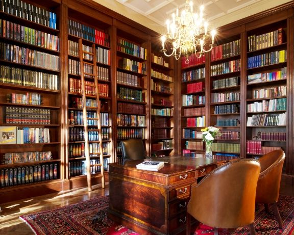 Old English Library Decor the stately library at saint hill manor in sussex // home of