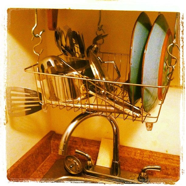 Diy Over The Sink Dish Rack To Make Up For My Total Lack Of