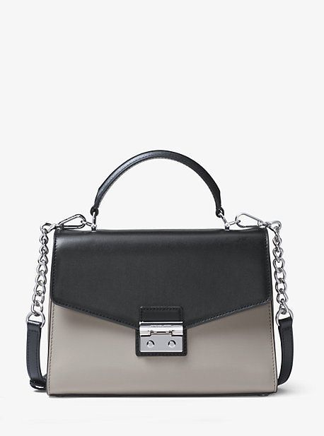 672c000a46b3 Michael Kors Sloan Color-Block Leather Satchel | Wish list | Leather ...