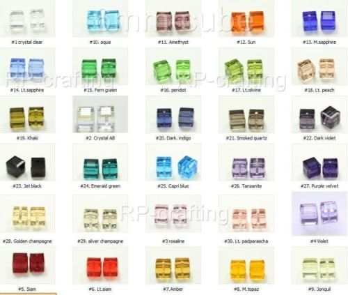 50-Top-Quality-6mm-Austria-cube-crystal-beads-Charms-For-Swarovski-5601-U-pick