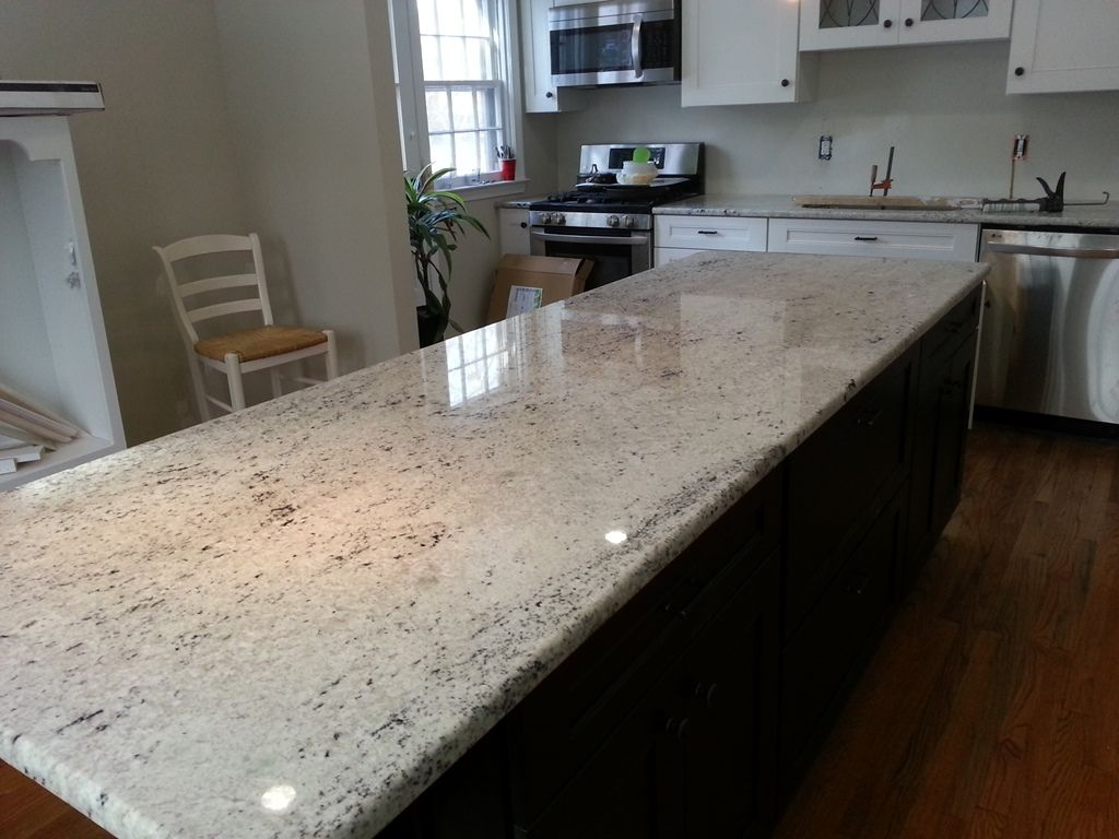 Colonial White Granite On Dark Cabinets Lvl 3