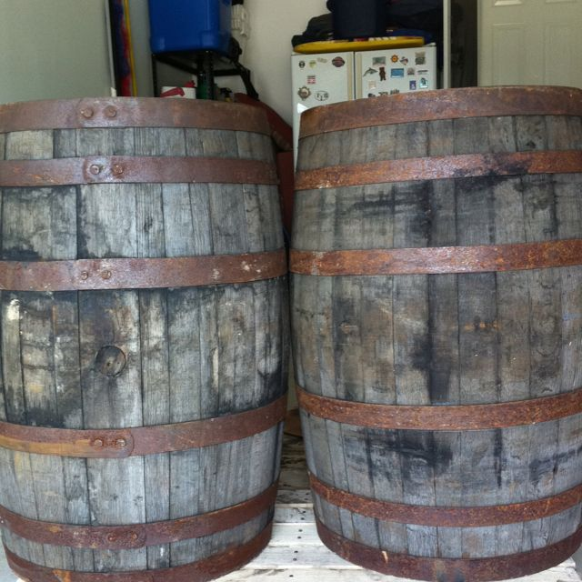Quot Jack Quot Amp Quot Jim Quot Reclaimed Whiskey Barrels From Honeysuckle