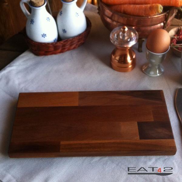 Frühstücksbrett Vesperbrett Brotzeitbrett Holz Nußbaum