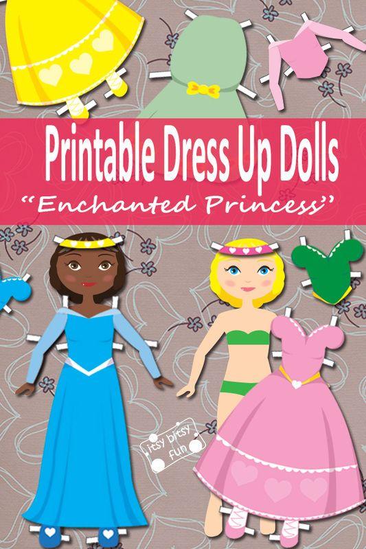 Princess Paper Doll Dress Up Free Printable