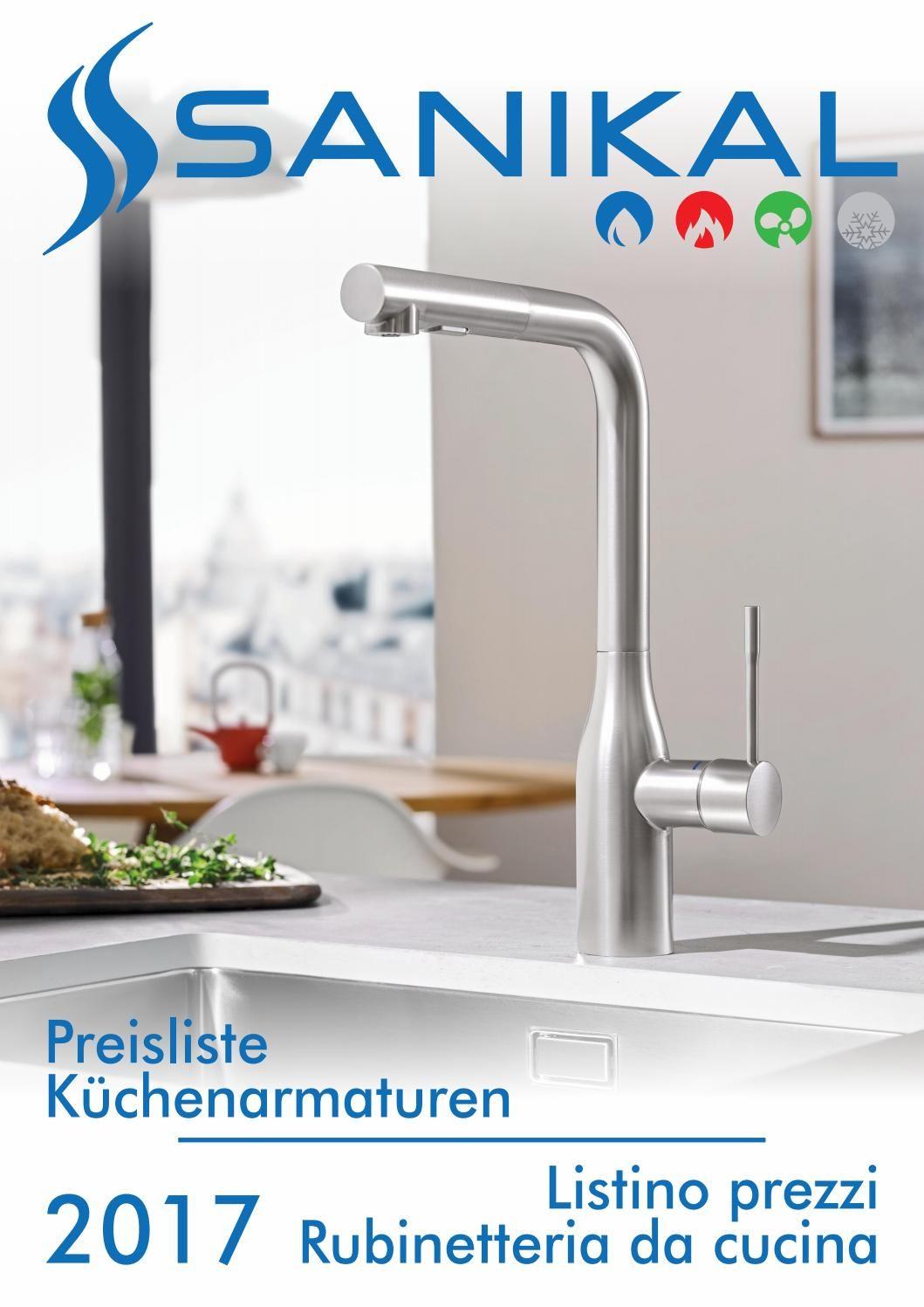 2017 Preisliste Küchenarmaturen Listino rubinetteria cucina