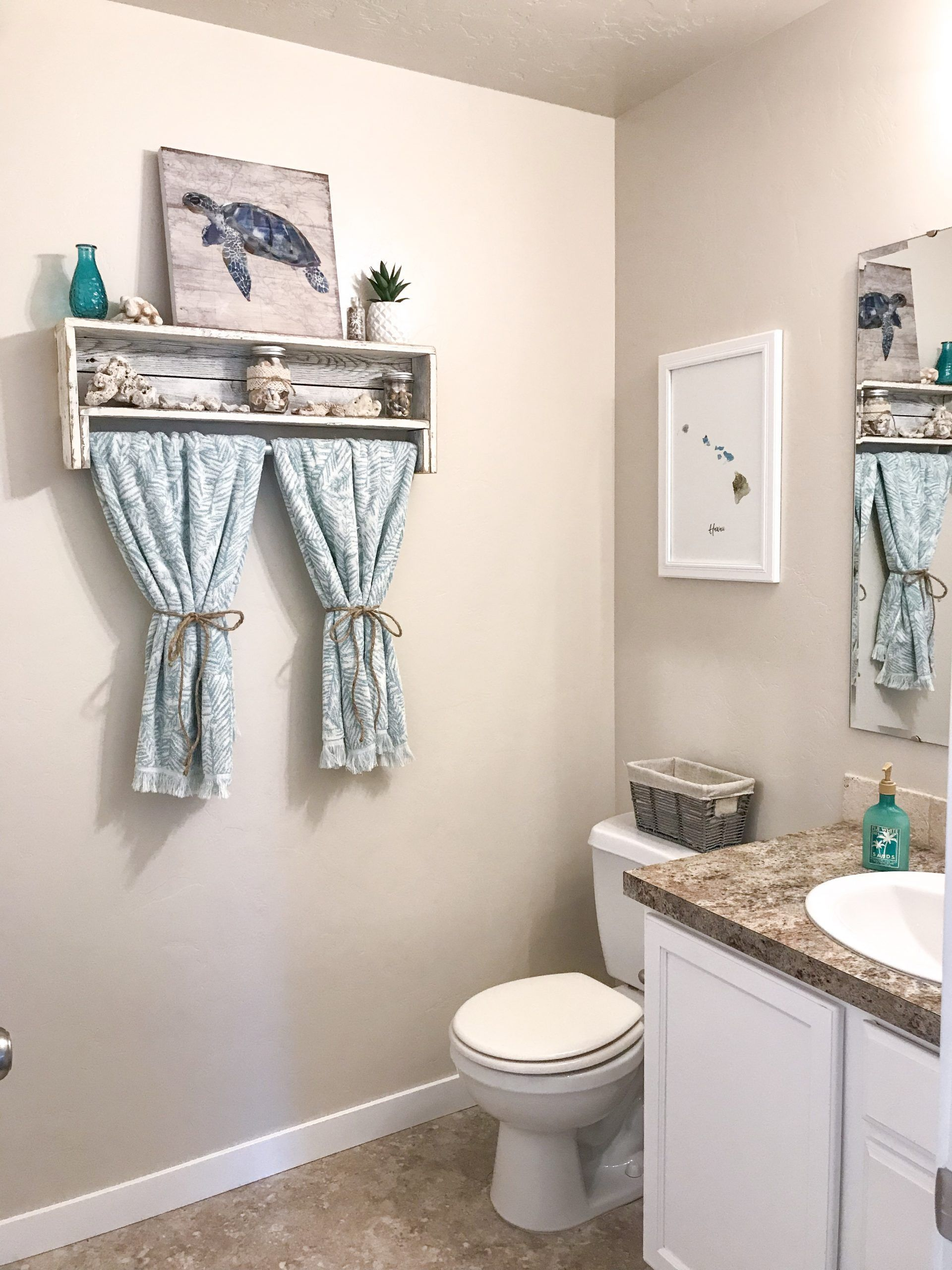 Beach Themed Bathroom Decorating Ideas In 2020 Beach Theme Bathroom Decor Beach Theme Bathroom Beach Bathroom Decor