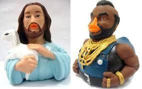 Jezus en mr.T eendjes