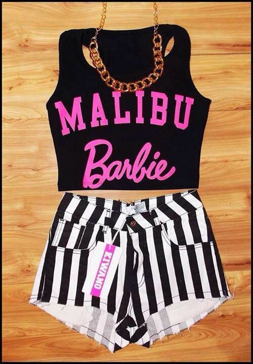 64bd91a4464 Barbie crop top | Baddies | Cute hipster outfits, Hipster outfits ...